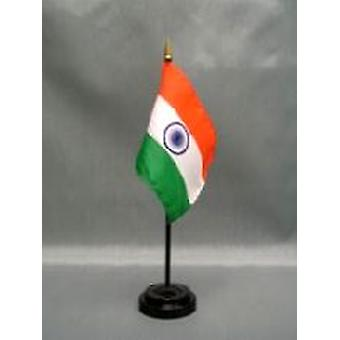 India Table Flag with Stick and Base