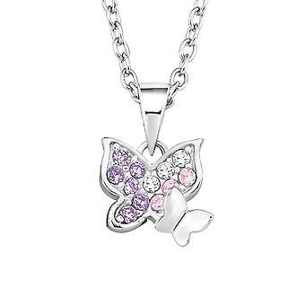 Princess Lillifee child kids necklace silver Butterfly 2021103