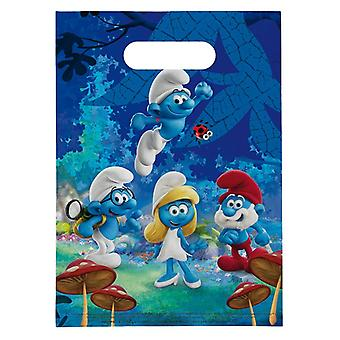 Party bags bags bag Smurf children party birthday 8 pieces