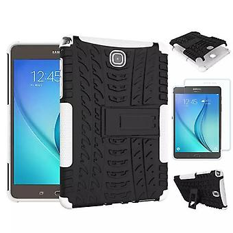 Hybrid outdoor bag white for Samsung Galaxy tab A 9.7 T550 + 0.4 tempered glass