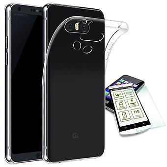 Silikoncase gjennomsiktig + 0,3 H9 herdet glass for LG G6 H870 bag coveret