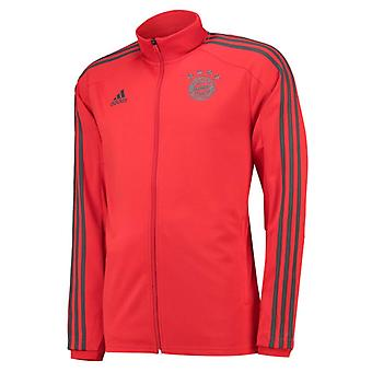 2018-2019 Bayern Munich Adidas Training Track Jacket (rouge)