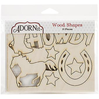 Yeehaw Laser-Cut Wood Shapes-Howdy