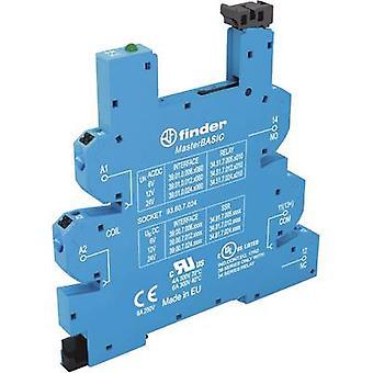 Relay socket + bracket, + LED, + EMC emission supressor 1 pc(s) Finder 93.60.8.230 Compatible with series: Finder 34 series Finder 34.51, Finder 34.81