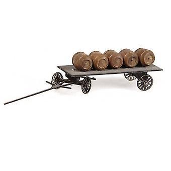 MBZ 80269 H0 Cart with beer barrels