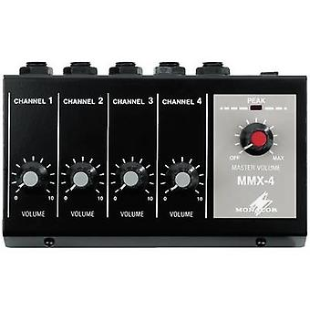 4-channel Microphone mixer Monacor MMX-4