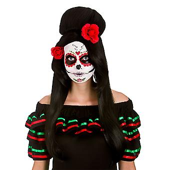 Wicked Day of the Dead Darling Wig Halloween Fancy Dress Accessory
