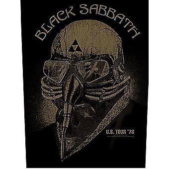 Black Sabbath uns 78 große Nähen-auf Tuch Rückenaufnäher Tour