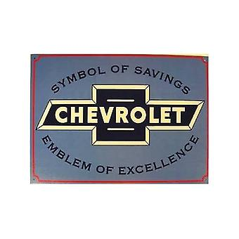 Chevrolet Symbol Of Savings Metal Sign