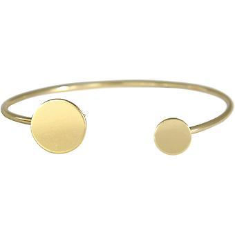 Gemshine - Damen - Armband - Armreif - Gold - Design - Kreis - Rund - Scandi - Minimalistisch - Geometrisch - Design