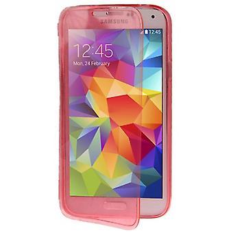 Handyhülle Flip Quer für Handy Samsung Galaxy S5 / S5 Neo Rosa