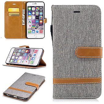 Case voor Apple iPhone 6s plus jeans dekken cel bescherming mouw geval Grau