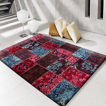 Rugs - Modern Persian Patchwork Red Blue