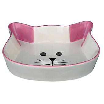 Trixie Ceramic Feeder, Cat Face, 0.25 L / ø 12 Cm