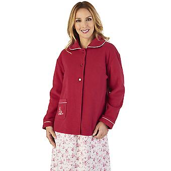 Slenderella BJ2325 Women's Boucle Fleece Bed Jacket