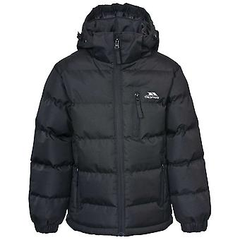 Trespass Boys Tuff Warm Thick Padded Winter Jacket Black