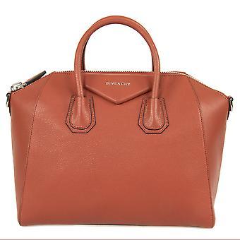 Givenchy Antigona Zucker Ziegenfell Leder Tasche Bag | Burnt Orange mit Silber Hardware | Medium