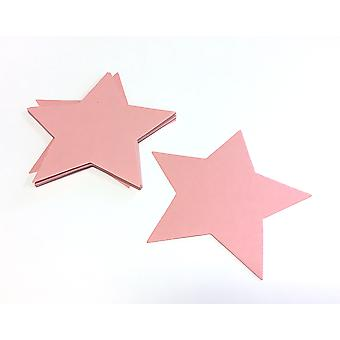 SALE - 16 Pale Pink Card Star Shapes - Wand Crafts for Kids