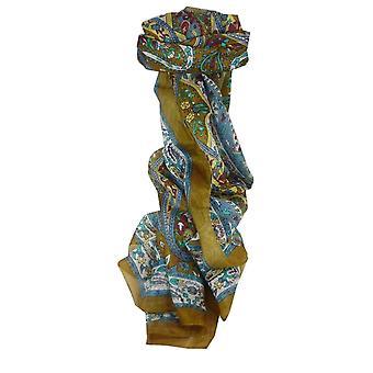 Шелковица шелка традиционный длинный шарф Ikna карамель, пашмины & шелка