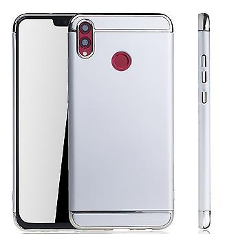 Huawei honor 8 X celtelefoon cover case bumper harde kaft zilver