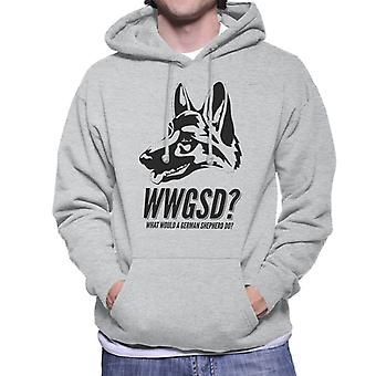 What Would A German Shepherd Do Men's Hooded Sweatshirt