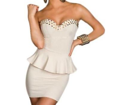 Waooh - Fashion - dress strapless peplum