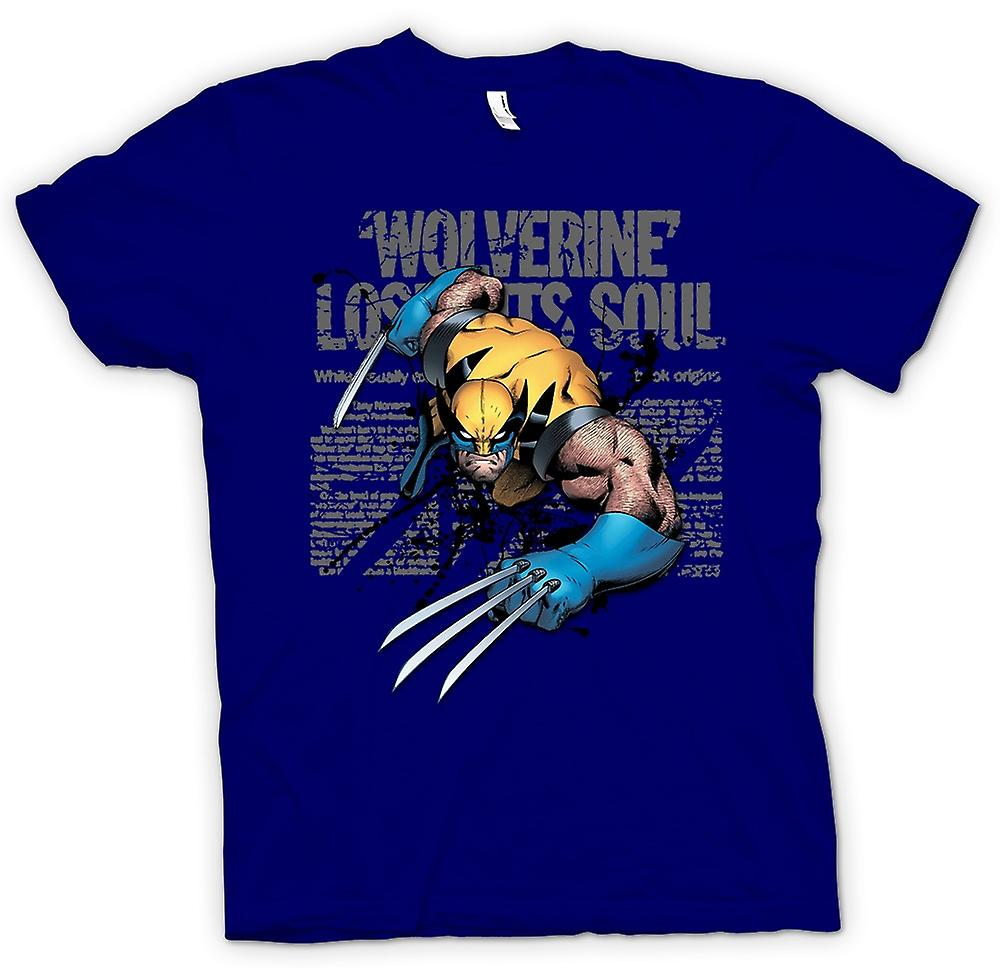 Mens T-shirt - Wolverine - Lost Soul - Comic Hero