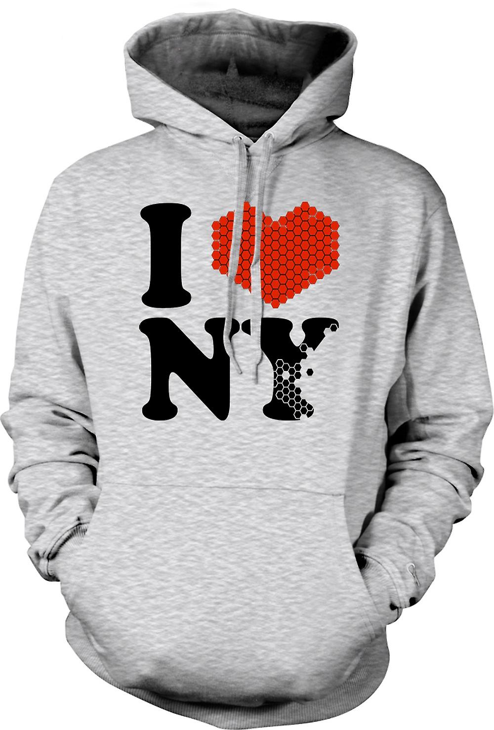 Mens Hoodie - I Love Heart New York - NY