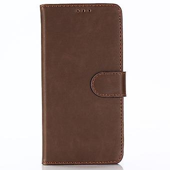 Samsung Galaxy A9 (2018) Stylish wallet pouch-Coffee