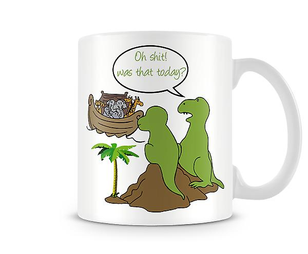 Decorative Writing Dinosaur Noah's Ark Printed Mug