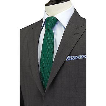 Dobell Mens carbone vestito giacca su misura Fit picco bavero Windowpane Check
