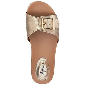 Style & Co. Womens Vivvie Open Toe Casual Slide Sandals