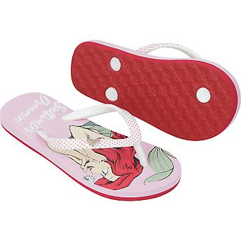 Roxy Girl x Disney Little Mermaid Pebbles VI Flip Flops - Pink Raspberry