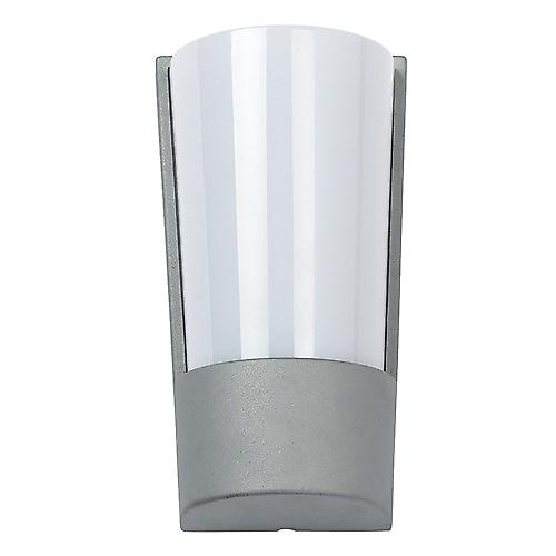 Endon EL-YG-8500 Modern Silver Aluminium Low Energy Wall Light With Acrylic Lens