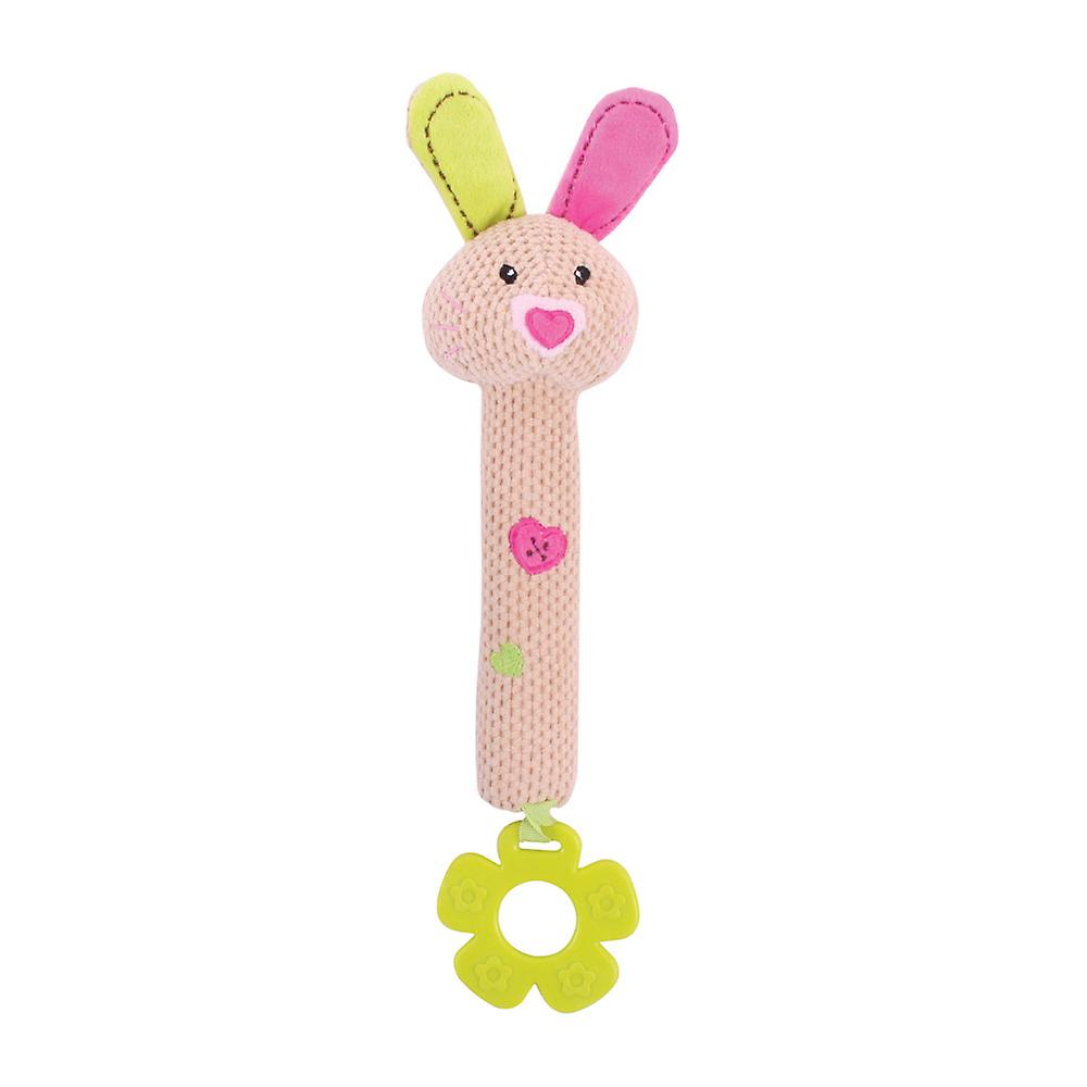 Bigjigs Toys Soft Plush Bella Squeaker Teether Rattle Early Learning Newborn