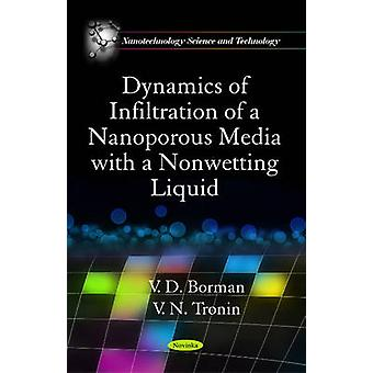 Dynamics of Infiltration of a Nanoporous Media with a Nonwetting Liqu