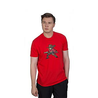 Overwatch McCree Pixel T-Shirt Unisex X-Large Red (TS002OW-L)
