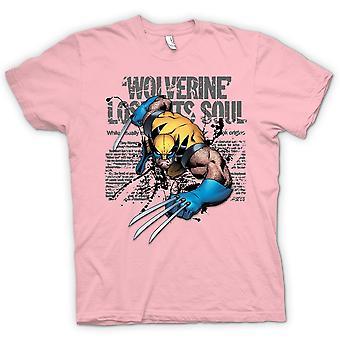 Heren T-shirt - Wolverine - verloren ziel - komische held