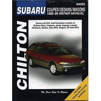 Subaru Impreza, Legacy, Justy, XT, SVX, Brat and 1.6, 1.8 L-series (1985-96) (Chilton total car care)