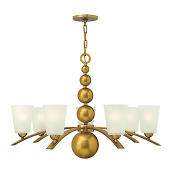Elstead - 7 Light Chandelier Vintage Brass Finish - HK/ZELDA7 VS