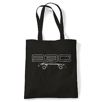 930 911 Turbo Classic Sports Car Tote - France Voiture Pickup Bike Truck Rally Sports SUV hors route (fr) Reusable Shopping Cotton Canvas Long Handled Natural Shopper Eco-Friendly Mode