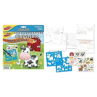 Joustra Kid Studio Buch: Bauernhof (Babys und Kinder , Spielzeuge , Lehrsam Und Kreativ)