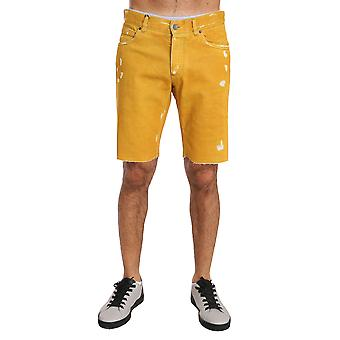 Dolce & Gabbana Gold Denim Cotton Above Knees Yellow -- BYX1466352
