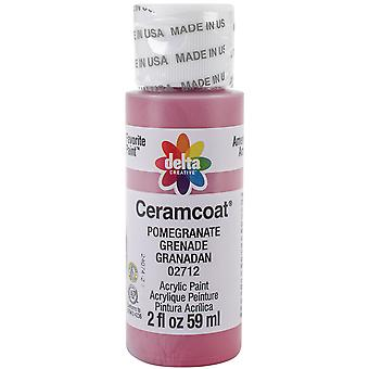 Ceramcoat Acrylic Paint 2oz-Pomegranate 2000-2712