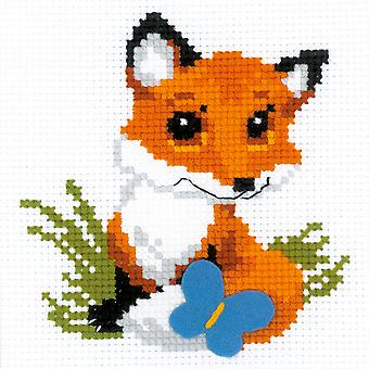 Little Fox Counted Cross Stitch Kit-6