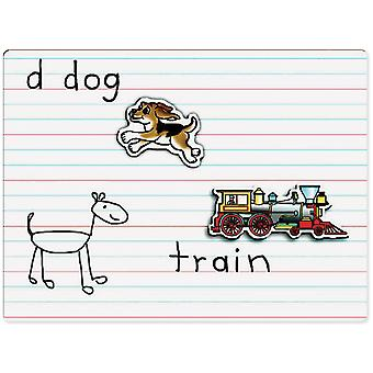 Dry Erase Board Lined Magnetic Ppdeb 812
