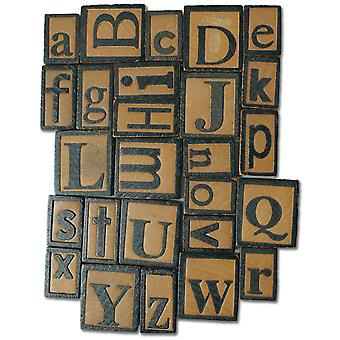 Vintage Collection Letter Press Set 26 Piece Alphabet Lpress26