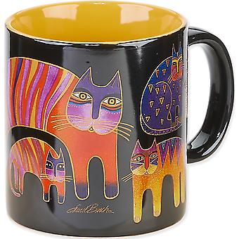 Laurel Burch Artistic Mug Collection Fantastic Feline Totem Lbm 304