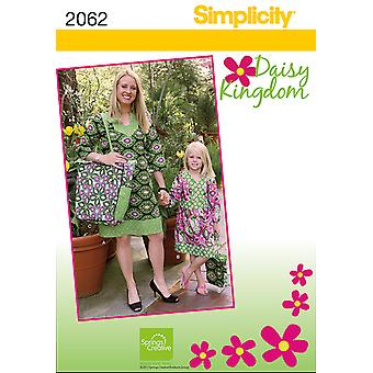 Simplicity Child's & Misses' Dresses 3  8 Xs Xl Us2062a