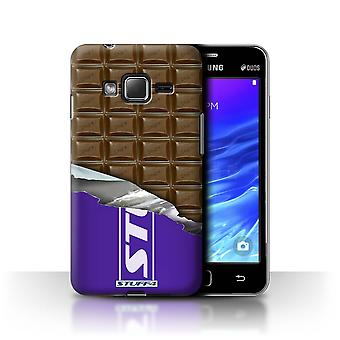 STUFF4 Case/Cover for Samsung Z1/Z130/Wrapped Blocks/Slab/Chocolate